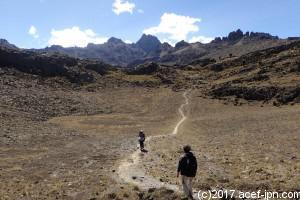 遠い遠い山頂を目指します。