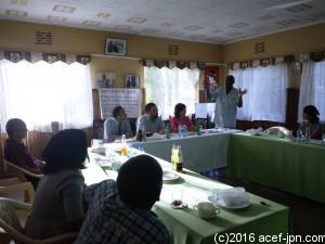 初日のプロジェクトメンバー顔合わせ。 ACEFの歴史などの紹介も。